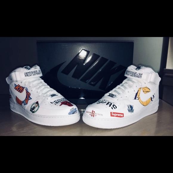 Supreme Shoes X Nike X Nba Air Force Ones Poshmark